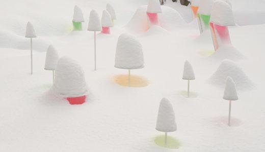 札幌パークホテルで天候によって変化する色彩アート「Snow Pallet」開催中